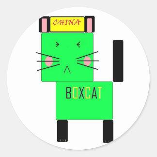 Boxcat Classic Round Sticker