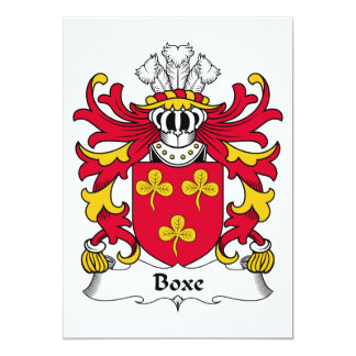 Boxe Family Crest Card