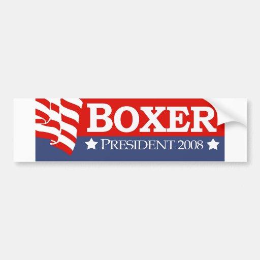 Boxeador 2008 pegatina para auto