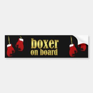 Boxeador a bordo pegatina de parachoque