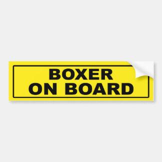 Boxeador a bordo pegatina para auto