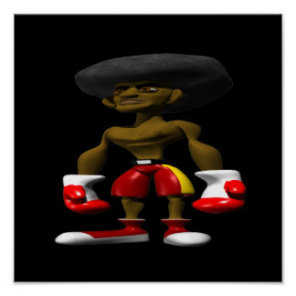 Boxeador afroamericano impresiones