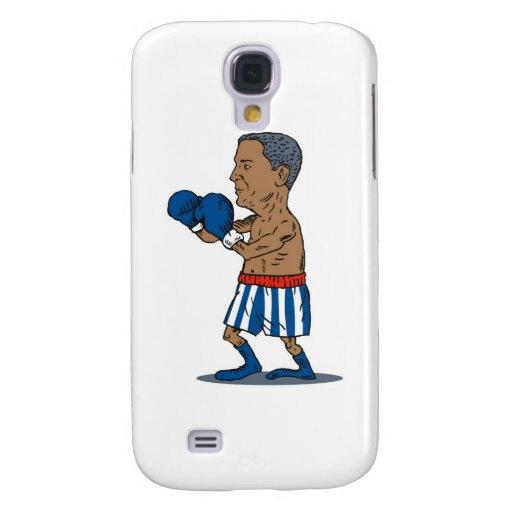 Boxeador americano de presidente Barack Obama Funda Para Galaxy S4