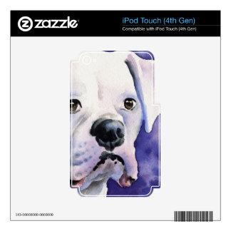 Boxeador blanco calcomanía para iPod touch 4G