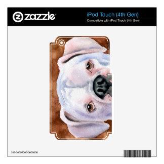 Boxeador blanco iPod touch 4G calcomanía