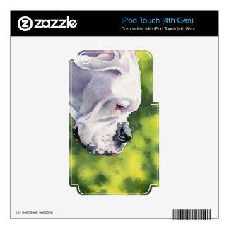 Boxeador blanco iPod touch 4G skin