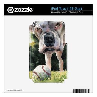 Boxeador blanco skins para iPod touch 4G