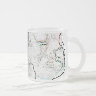 Boxeador blanco taza de cristal