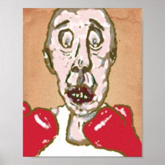 Boxeador de la sangría impresiones