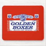 Boxeador de oro tapetes de ratón