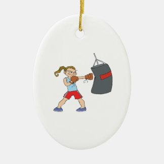 Boxeador de sexo femenino ornamentos de reyes