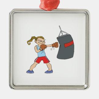 Boxeador de sexo femenino ornamento para reyes magos
