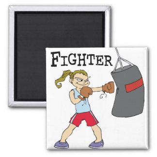 Boxeador de sexo femenino imanes de nevera