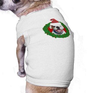 Boxeador del blanco del navidad prenda mascota