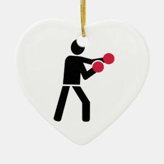 Boxeador del boxeo ornamento de navidad