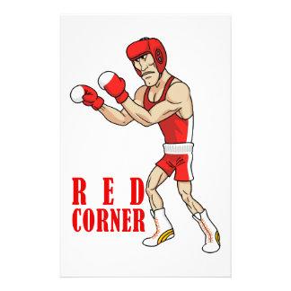 boxeador del dibujo animado papeleria personalizada