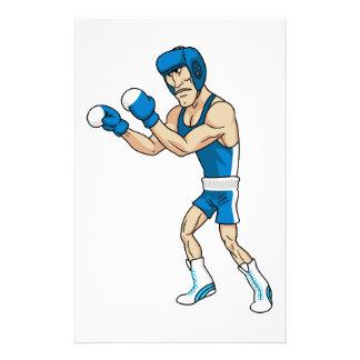 boxeador del dibujo animado  papeleria