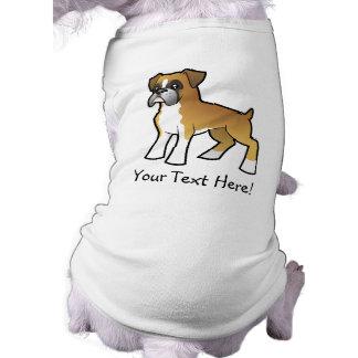 Boxeador del dibujo animado camisetas de perrito