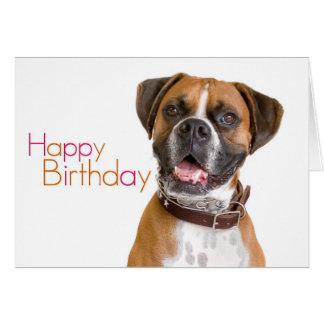 Boxeador del feliz cumpleaños tarjeta pequeña
