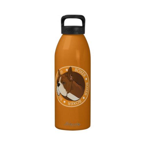 Boxeador del perro botellas de agua reutilizables