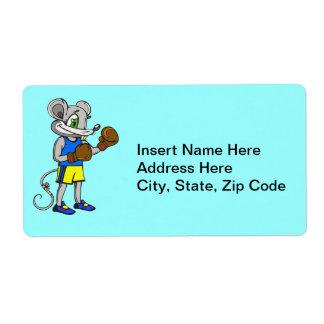 Boxeador del ratón etiqueta de envío