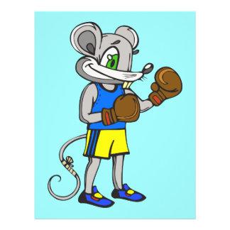 """Boxeador del ratón folleto 8.5"""" x 11"""""""