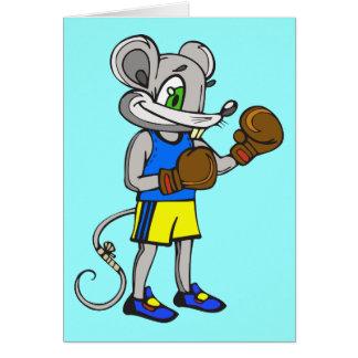 Boxeador del ratón tarjeta pequeña