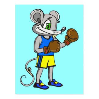 Boxeador del ratón tarjetas postales