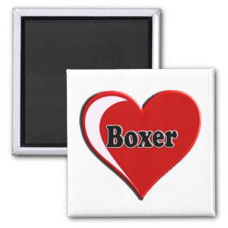 Boxeador en el corazón para los amantes del perro imanes de nevera