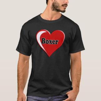 Boxeador en el corazón para los amantes del perro playera