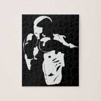 Boxeador en las sombras rompecabezas con fotos