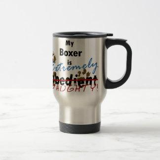 Boxeador extremadamente travieso taza