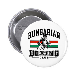 Boxeador húngaro pin redondo de 2 pulgadas