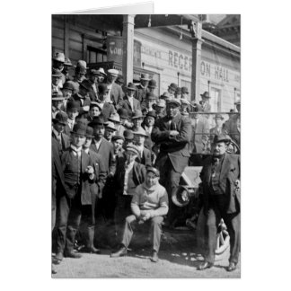 Boxeador Jack Johnson e instructores 1900s tempra Tarjetón