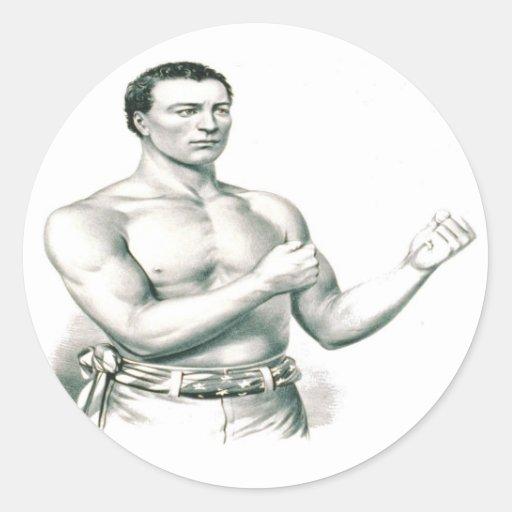 ¡Boxeador Juan C. Heenan - el campeón de los Etiqueta Redonda