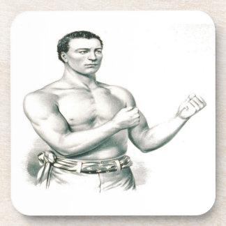 ¡Boxeador Juan C. Heenan - el campeón del Desnudo- Posavasos
