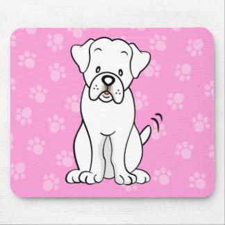 Boxeador lindo Mousepad del perro del dibujo anima Tapetes De Raton