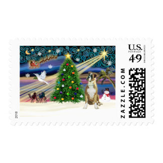 Boxeador mágico del navidad (oídos naturales) timbre postal