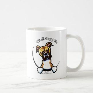 Boxeador natural divertido de los oídos taza de café