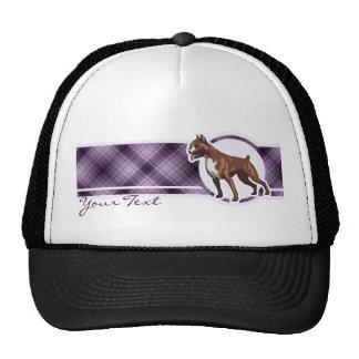 Boxeador púrpura gorras de camionero
