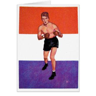 Boxeador retro de la tarjeta del cigarrillo del ki