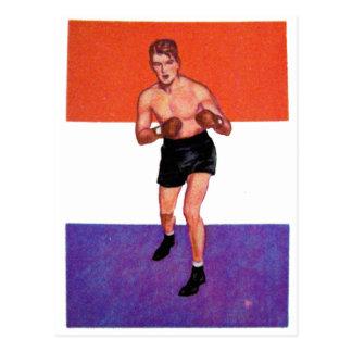 Boxeador retro de la tarjeta del cigarrillo del postal