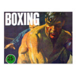 Boxeador retro del boxeo del kitsch del vintage tarjeta postal