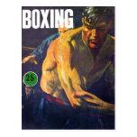 Boxeador retro del boxeo del kitsch del vintage postales