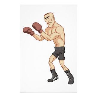 boxeador retro papeleria de diseño
