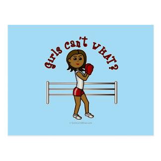 Boxeador rojo oscuro postales
