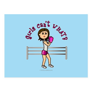 Boxeador rosa claro postales