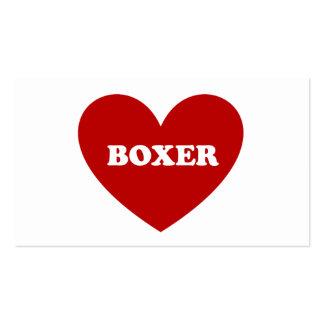 Boxeador Plantilla De Tarjeta De Visita