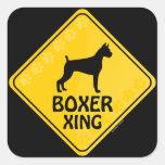 Boxeador Xing Pegatina Cuadradas Personalizadas