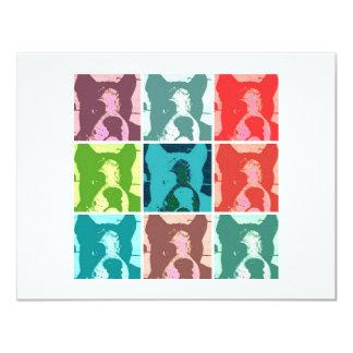 Boxeadores del arte pop invitación 10,8 x 13,9 cm